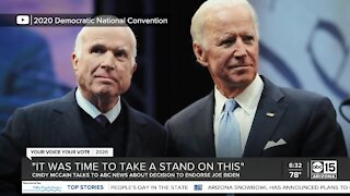 Valley political analyst speaks with ABC15 about Cindy McCain's decision to endorse Joe Biden