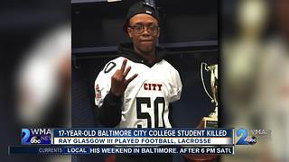 17 year old baltimore city college student killed
