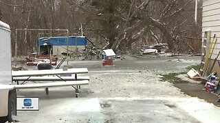 Oconto cleaning up after flooding