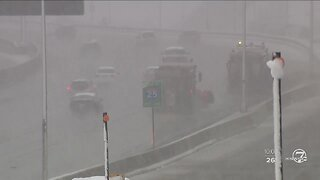 Heavy snow causes traffic issues across Denver area, mountains