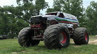 10,000lb Monster Truck Attempts Dangerous Stunt | RIDICULOUS RIDES