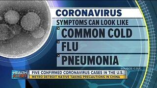 Metro Detroit native taking precautions against Coronavirus in China