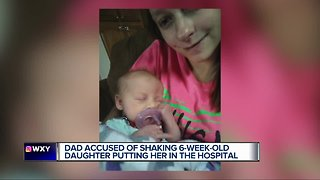 Father charged with child abuse after allegedly shaking 2-month-old daughter