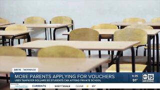 More parents applying for school vouchers