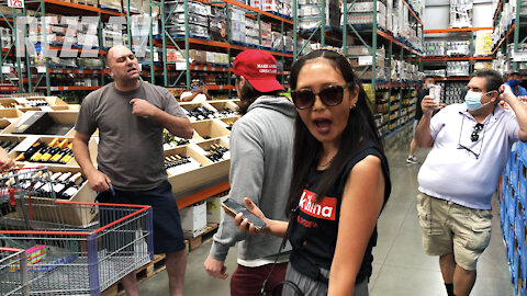 Mask Lovers Get TRIGGERED Over Freedom Protest At Costco
