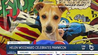 Helen Woodard celebrates Pawmicon