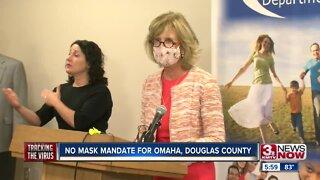 No mask mandate for Omaha, Douglas County