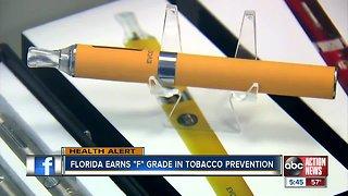 "Florida receives an ""F"" grade from American Lung Association"
