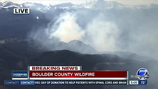 Boulder County wildland fire prompts evacuations in Conifer Hill area