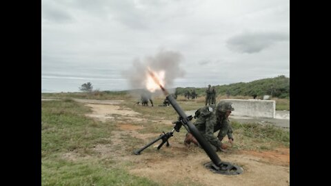 The famous army mortar