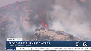 """Road Fire"" burns 100 acres"