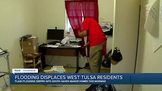 Flooding displaces 3 families in west Tulsa