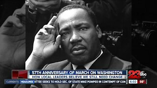 57th anniversary of Martin Luther King Jr's March on Washington