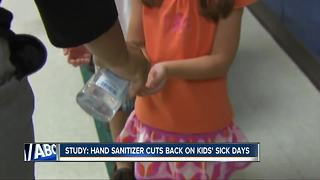 Study shows benefits of kids using hand sanitizer