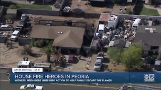 House fire heroes take action in Peoria