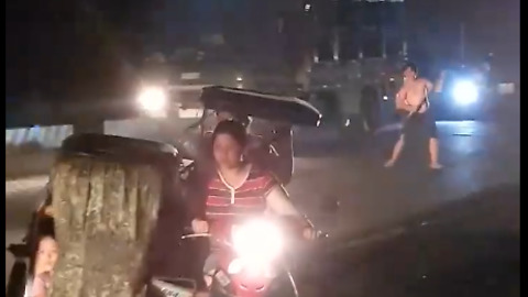 A Drunk Man Blocks Highway And Harasses Motorists But Unexpectedly Encounters A Battalion