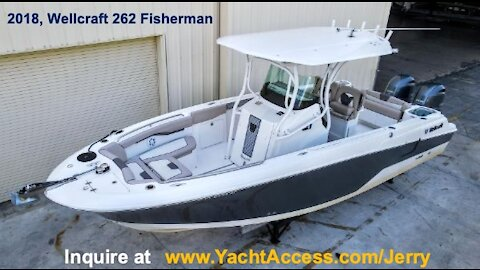 2018, 26' WELLLCRAFT 262 FISHERMAN Center Console - Boats for Sale