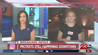 Recap of the first night of protests in downtown Bakersfield