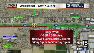 Weekend traffic alert: Road closures