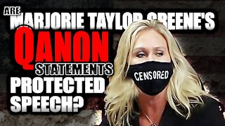Is House Representative Marjorie Taylor Greene protected by the 1st Amendment?