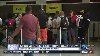 Spirit Airline flight turns back to BWI after reported odor on-board