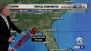 Steve Weagle discusses Nestor's impact on Florida