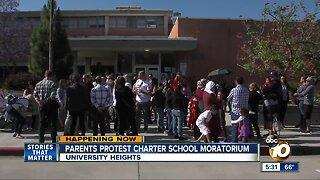 Parents protest charter school moratorium