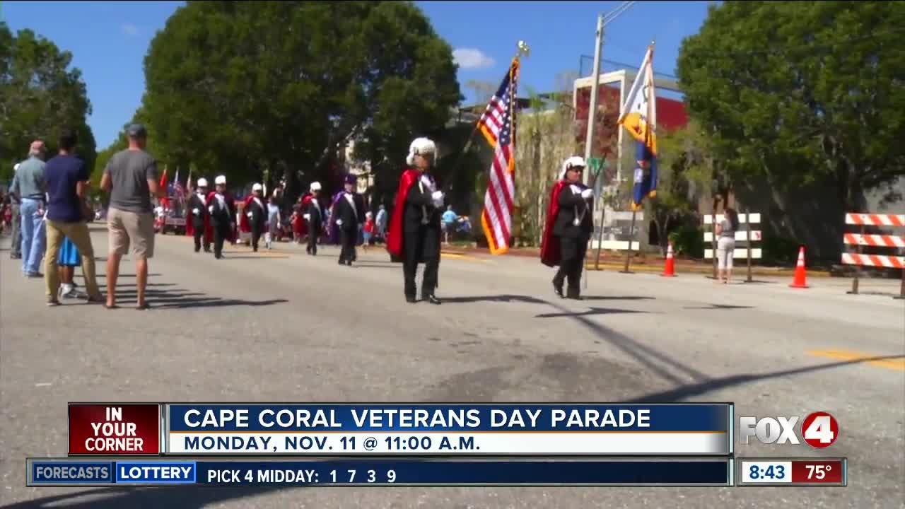 Cape Coral Veterans Day Parade on Monday