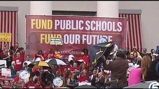 Teachers rally at Capitol