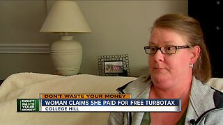Woman claims she paid for free TurboTax