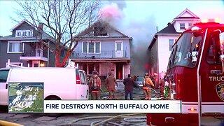 Fire destroys North Buffalo home