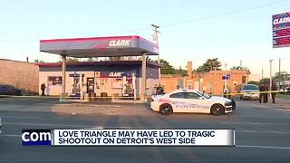 Two men shot and killed during shootout outside of Detroit gas station