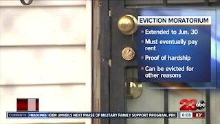 Eviction moratorium details