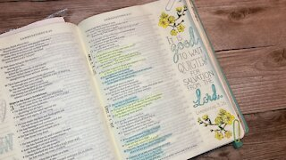 Bible Journaling Lamentations 3:26