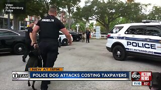 Police dog attacks costing taxpayers