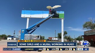 Hugo, Colorado is getting a new mural