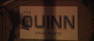 Homicide investigation at Quinn Apartments