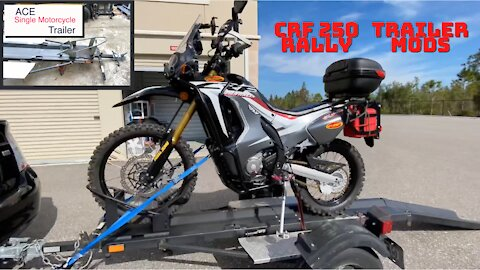 Trailer modification project for 2018 CRF 250L Rally - Wheel Chuck Welding
