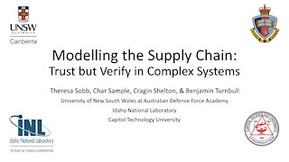 Modeling the Supply Chain: Trust but Verify - ICCWS 2020