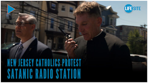 New Jersey Catholics protest satanic radio station in Cardinal Tobin's archdiocese