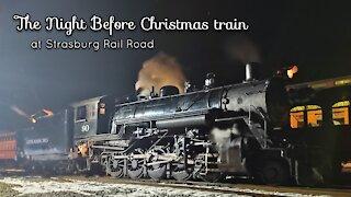 Strasburg Railroad Night Before Christmas train