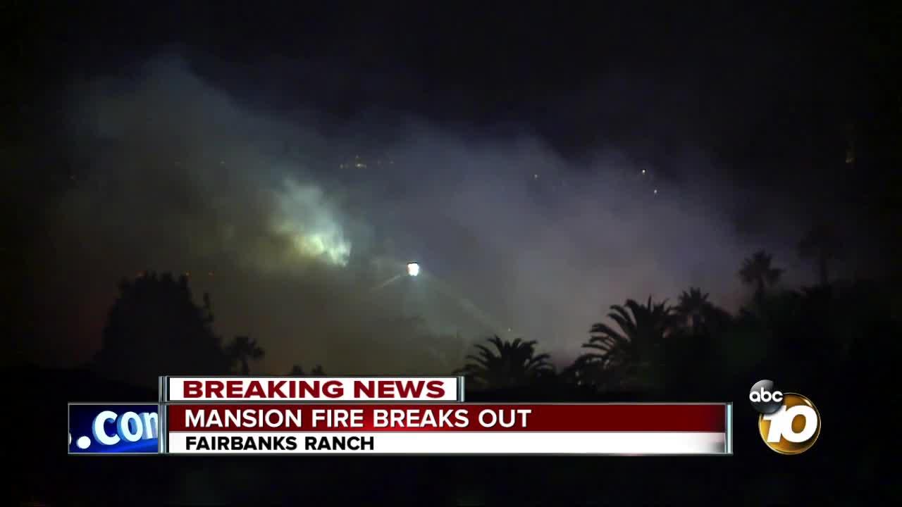 Crews knock down mansion fire in Rancho Santa Fe