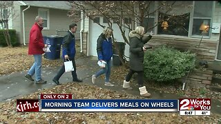 Morning team delivers meals to seniors with Meals on Wheels