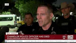 Chandler officer killed by suspect after pursuit that ended in Gilbert