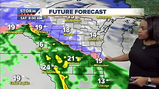 Friday's Milwaukee weather: Chance of isolated rain, snow showers