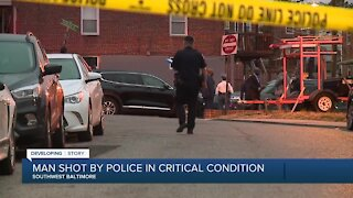 Suspect in critical condition after being shot by a Baltimore County officer