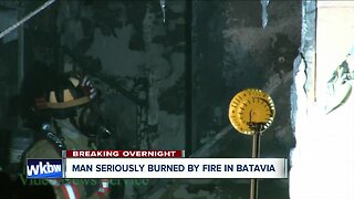 Man hospitalized with burns after Batavia apartment fire