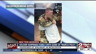 Soldier from McAlester surprises family before Christmas