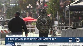 Rain, COVID restrictions hamper outdoor business