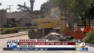 Homes evacuated after gas leak